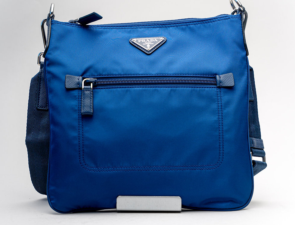 Prada Nylon Crossbody Bag in Blue