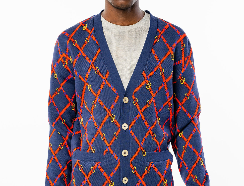 Gucci Buttoned Navy Cardigan