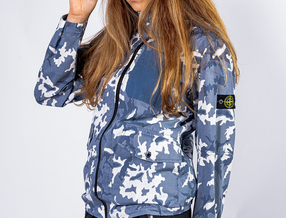 Stone Island Junior Camo Jacket front view