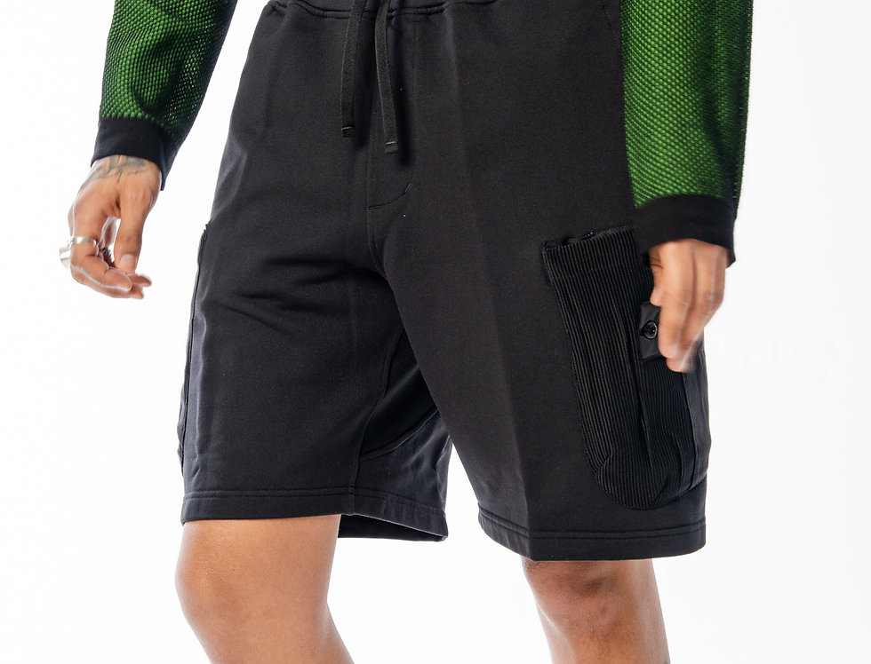 Stone Island Shadow Project Mesh Pocket Shorts In Black