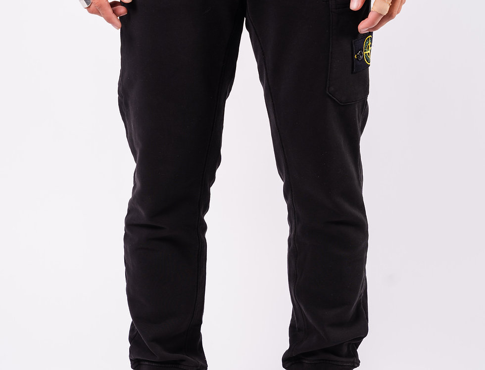 Stone Island SS20 Black Sweatpants front view