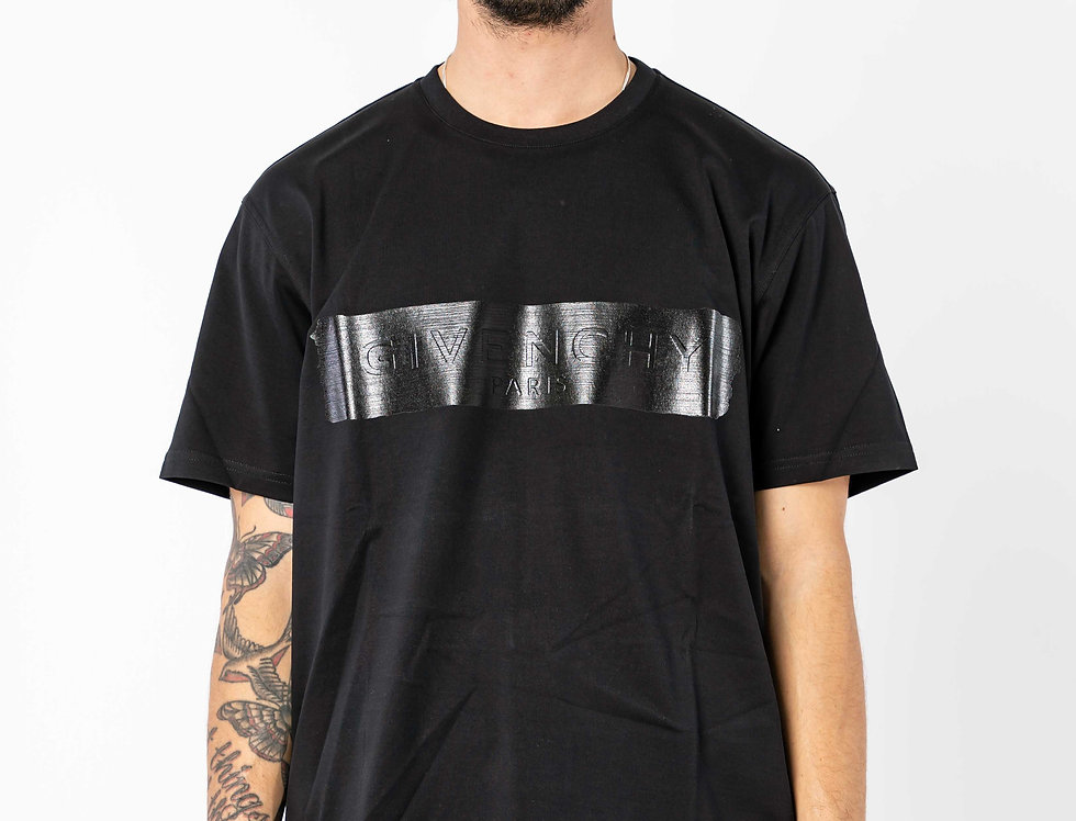 Givenchy T-shirt  With Black Logo Panel In Black