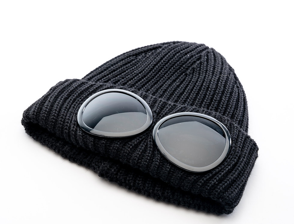 C.P. Company AW20 Goggle Knit Hat In Black