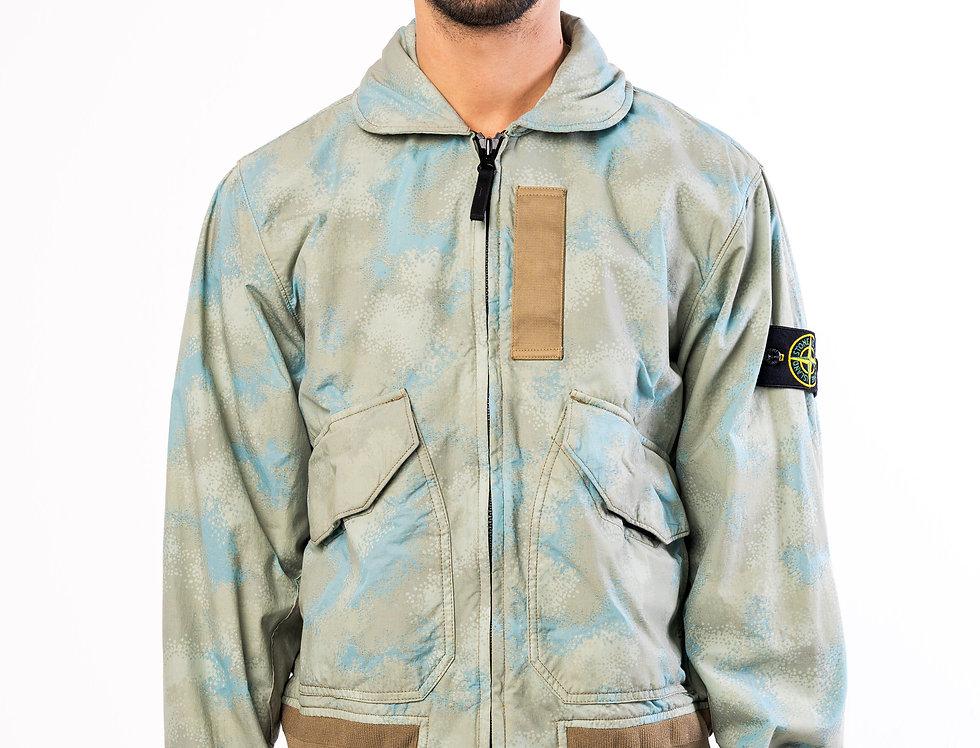 Stone Island Field Jacket In Camo