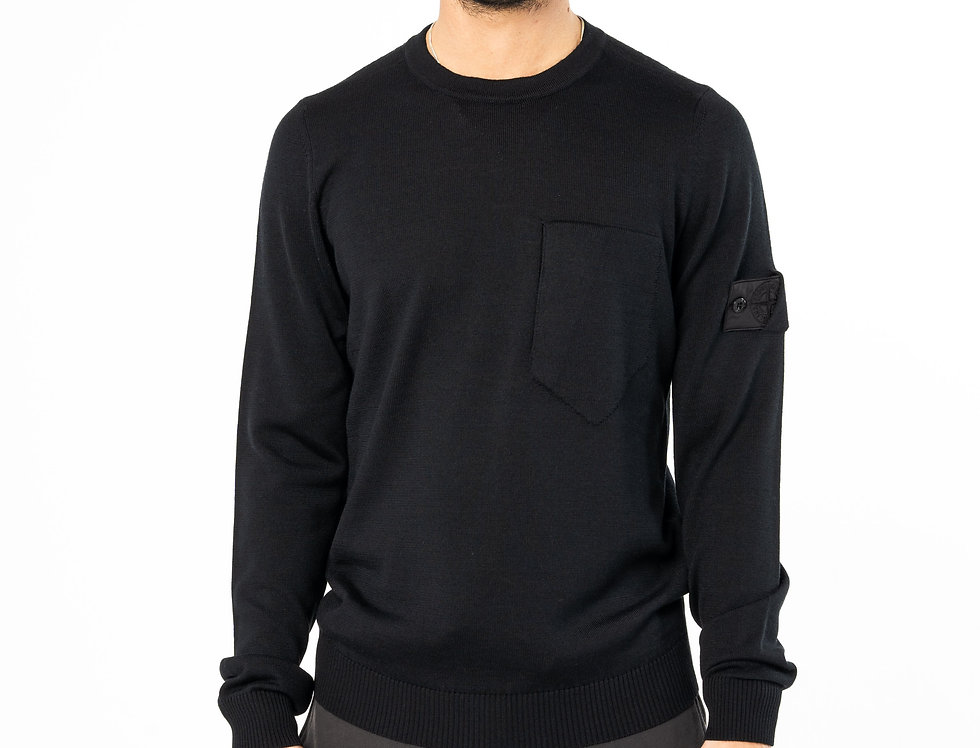 Stone Island Shadow Project Black Knitted Sweater
