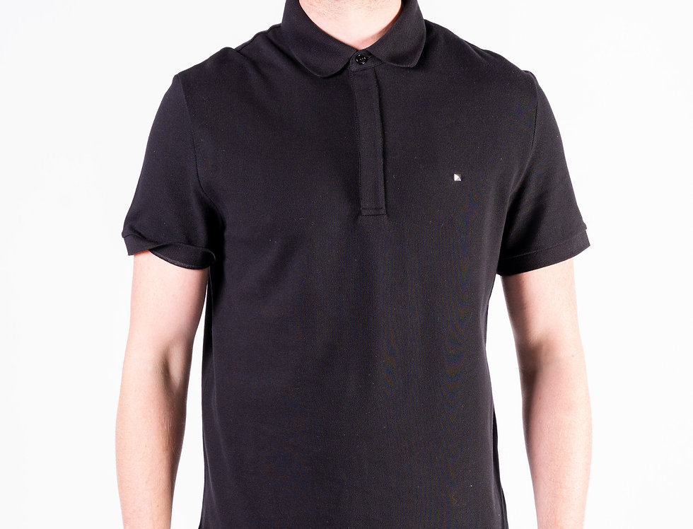 Valentino Rockstud Polo In Black front view