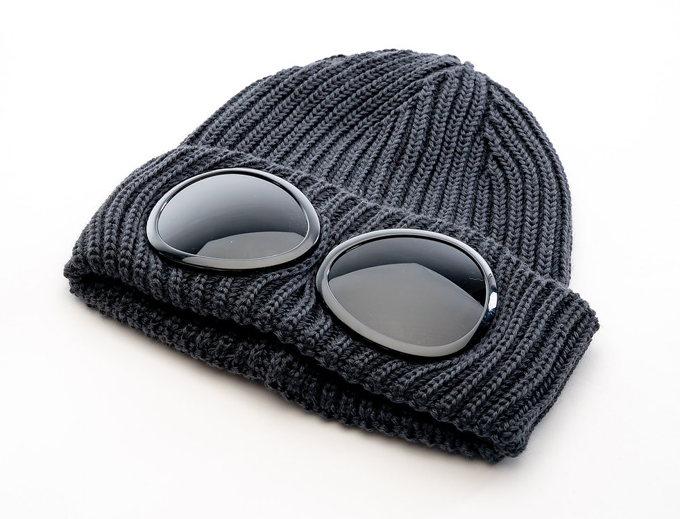 C.P. Company AW20 Goggle Knit Hat In Grey
