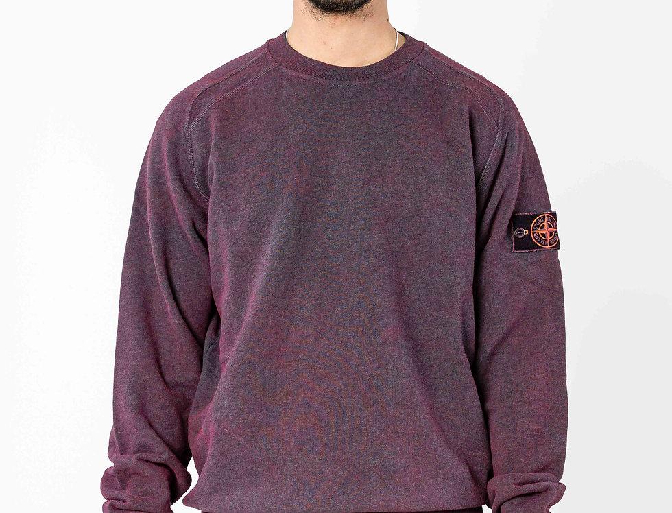 Stone Island Dust Colour Treatment Burgundy  Sweatshirt