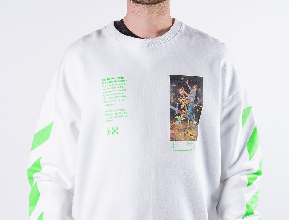 OFF-WHITE™️ Golden Ratio Sweatshirt In White front view