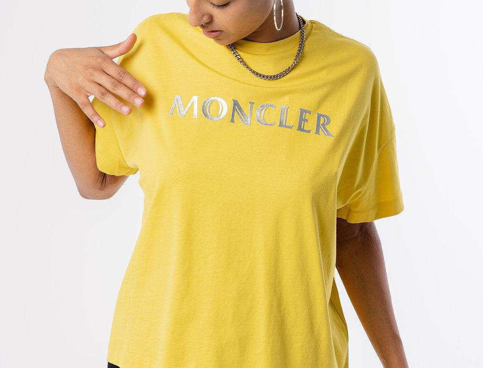 Moncler Ladies T-Shirt In Yellow
