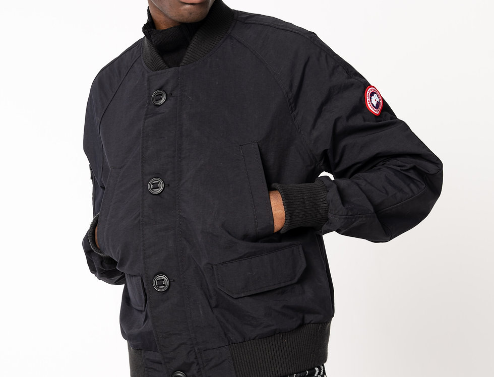 Canada Goose Faber Bomber In Black front view