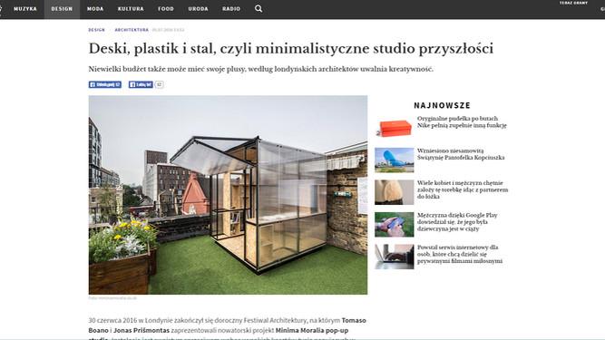 """More from Poland! """"Niewielki budżet także może mieć swoje plusy, według londyńskich architektów"""