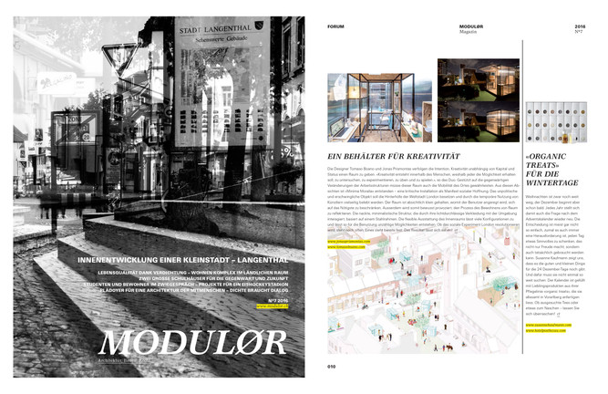 Minima Moralia Printed on MODULOR magazine
