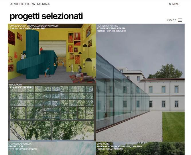 """""""La Villa, Lo Scrigno, La Balena"""" selected by DIVISARE"""