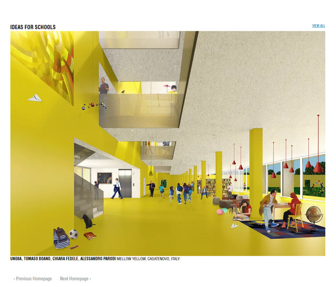 Ideas for schools... MELLOW YELLOW on Divisare Homepage!