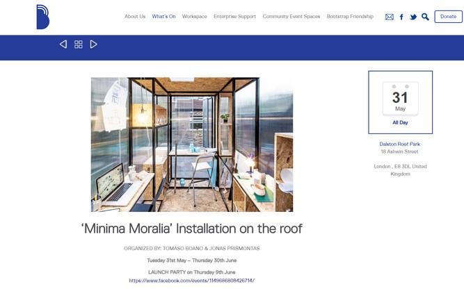"""Minima Moralia"" Launch! On Dalston Roof Park"
