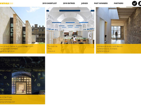 The Arches project is among the project entries for NewIntoOld 2019