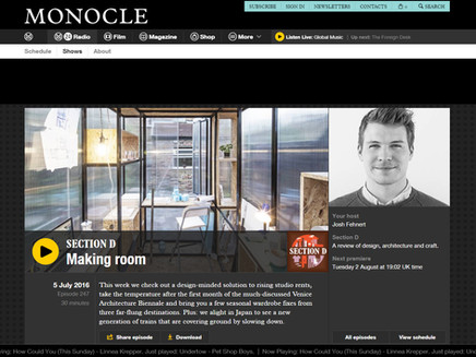 Great article and interview for Monocle talking about #MinimaMoralia