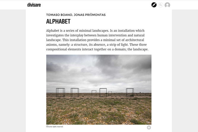 """ALPHABET"" featured on Divisare"