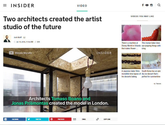 Yep! The artist studio of the future! Thanks INSIDER - This is great!