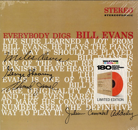 BILL EVANS : EVERYBODY DIGS BILL EVANS (LIMITED SOLID RED COLORED/180G VINYL)