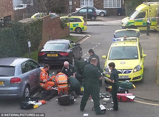 16 Year old boy stabbed in East London street.
