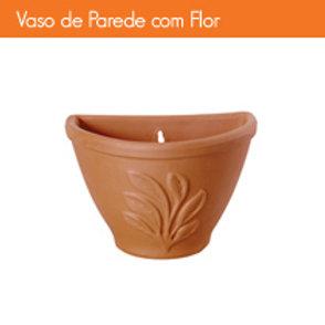 VASO DE PAREDE 30 C/ FLOR