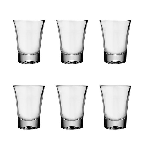 Set de 6 vasos de vidrio - shots 60 ml