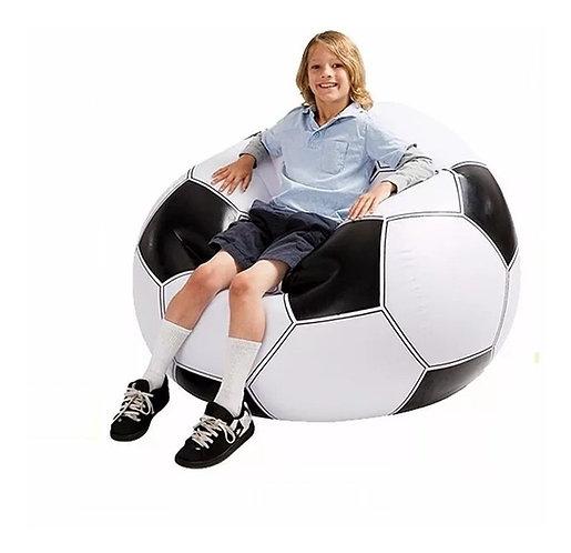 Sillón inflable pelota de fútbol Intex