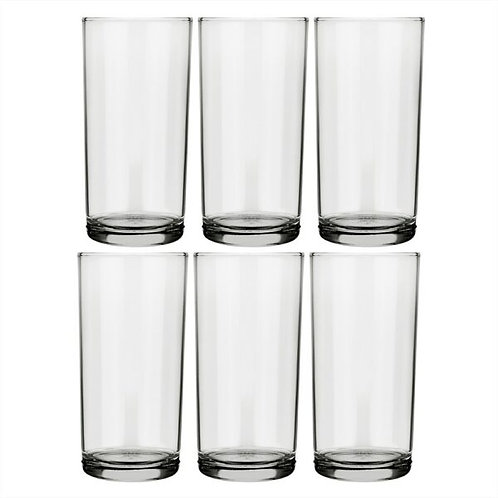 Set de 6 vasos de vidrio 300 ml