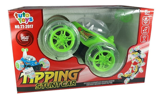 Carro de juguete con control remoto, luces y música. Gira 360 grados