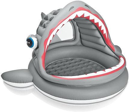 Piscina inflable tiburón