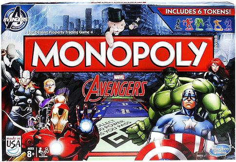 Juego de mesa Monopolio con diseño de los Avengers