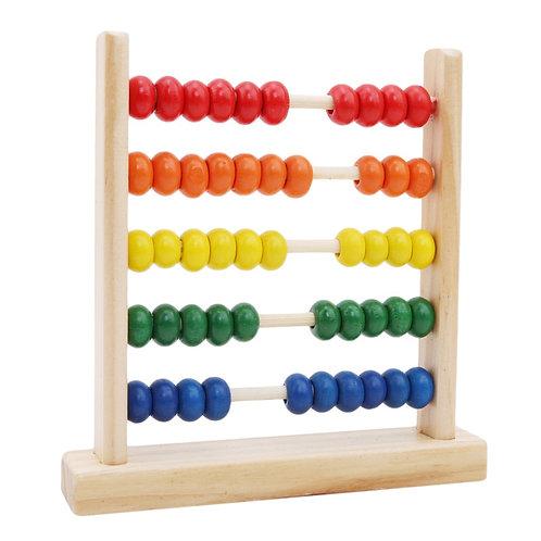 Ábaco de madera - juego didáctico