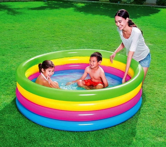 Piscina inflable 4 anillos 157 x 46 cm