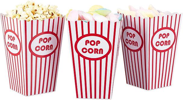 Set de 12 cajas reusables Popcorn box