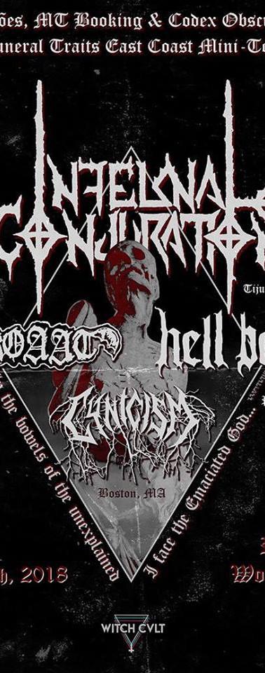Infernal Conjuration live in Boston August 16, 2018