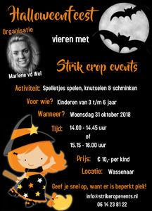 31 Oktober Halloween Feest.Halloweenfeest Voor De Kleintjes