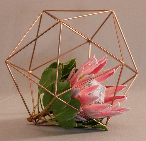 Geometric Orbs Rose Gold