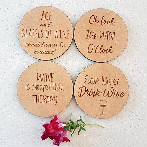 Wine Inspired Coasters (Set of 4)