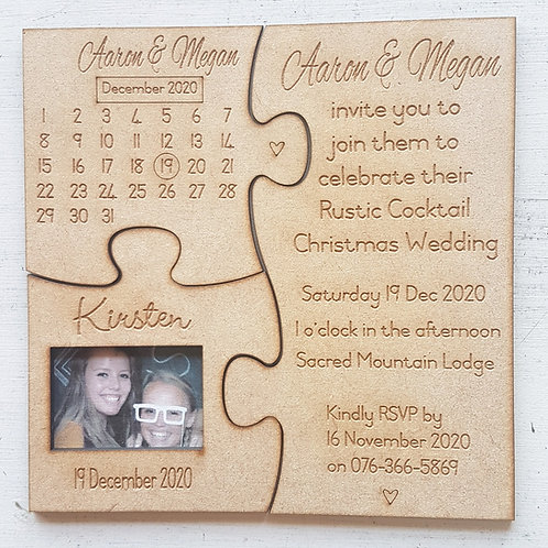 Wedding Invitation Puzzle