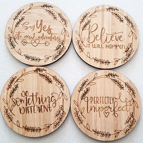 Motivational Coasters (Set of 4)