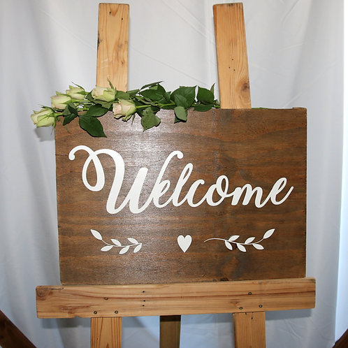 Pine Welcome Board - Light or Dark
