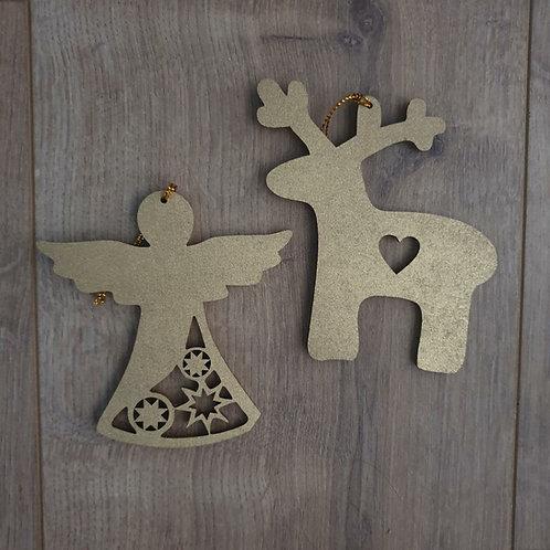 Miscellaneous Wooden Cutout Ornaments