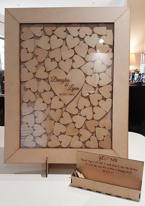 Frame with drop in hearts