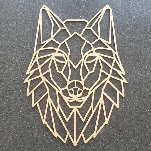 Geometric Wolf Wall Art