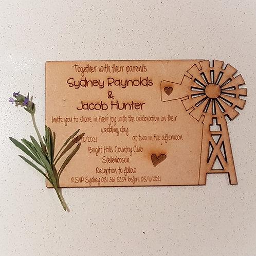 Windmill Wedding Invitation