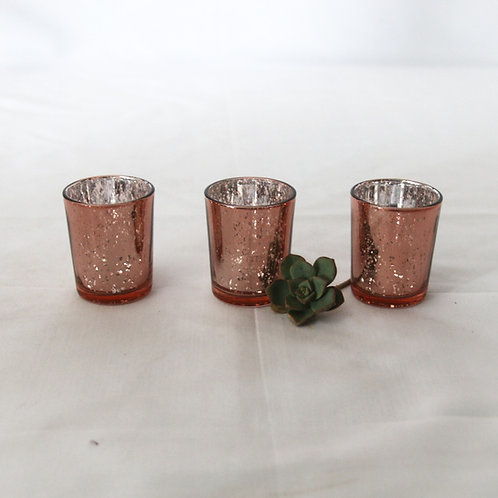Tealight candle votive - Rose Gold