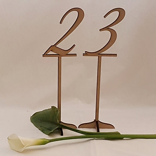Table Number Numerals with Footstand