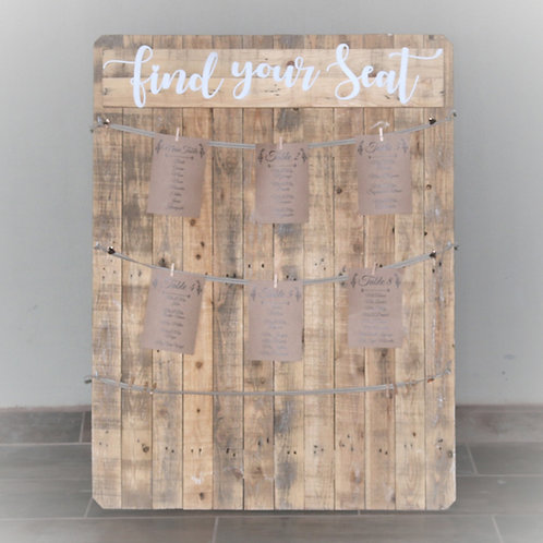 Find Your Seat Pallet for Printed Pages